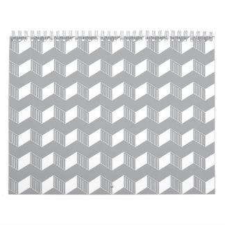 Jagged layers greys white wall calendars