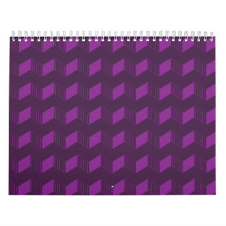 Jagged layers purples wall calendar