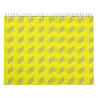 Jagged layers yellows calendar