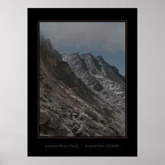 Jagged Longs Peak Trail Poster