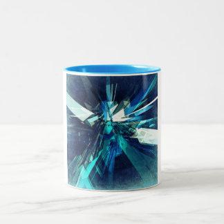 Jagged Metal Shards Two-Tone Coffee Mug