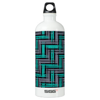 Jagged Plaid Water Bottle