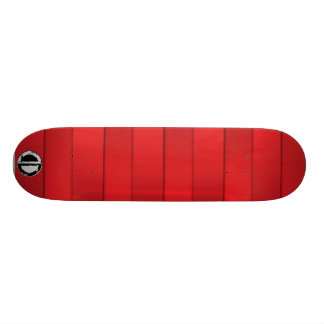 Jagged Planks- Red Skateboard