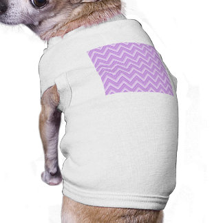 Jagged Purple Chevron Doggie Tee