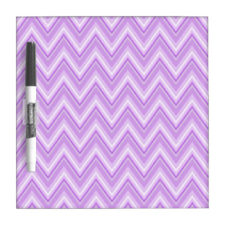 Jagged Purple Chevron Dry Erase Board