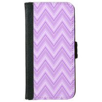 Jagged Purple Chevron iPhone 6/6s Wallet Case