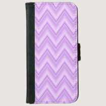 Jagged Purple Chevron iPhone 6/6s Wallet Case
