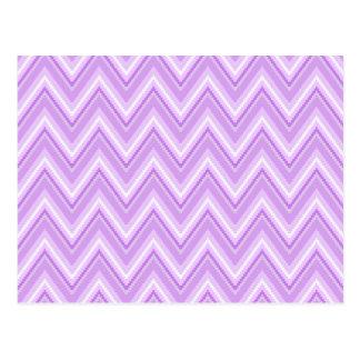 Jagged Purple Chevron Postcard