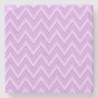 Jagged Purple Chevron Stone Coaster