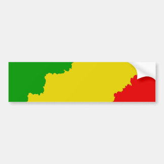 Jagged Rasta Stripes Bumper Sticker