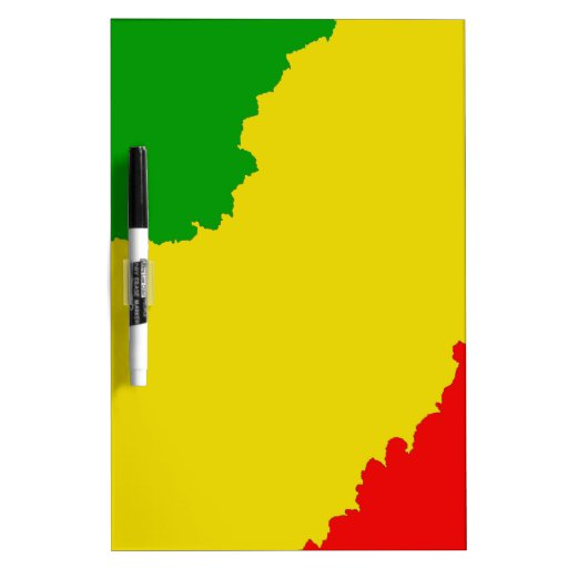 Jagged Rasta Stripes Dry-Erase Whiteboards