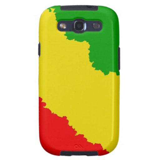 Jagged Rasta Stripes Galaxy SIII Case