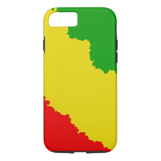 Jagged Rasta Stripes iPhone 7 Case