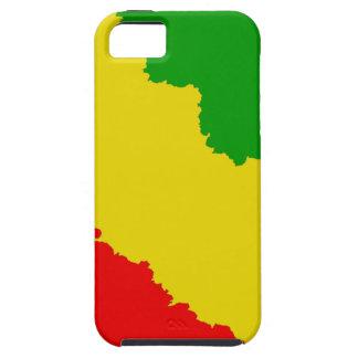 Jagged Rasta Stripes iPhone SE/5/5s Case