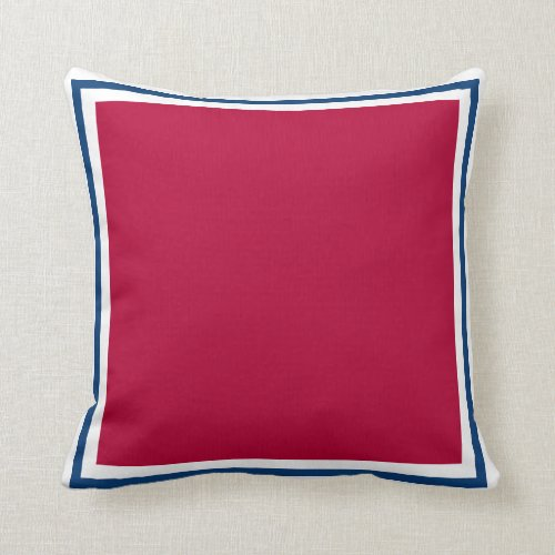 Jagged Red Tex Throw Pillow