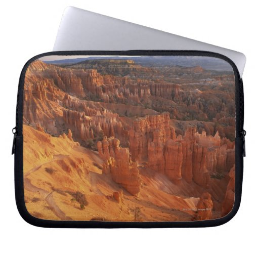 Jagged rock formations in canyon laptop computer sleeve