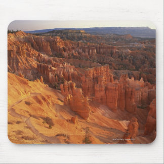 Jagged rock formations in canyon mouse pad