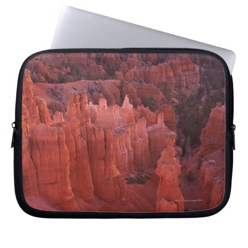 Jagged rock formations in desert computer sleeves