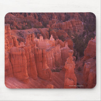 Jagged rock formations in desert mouse pad
