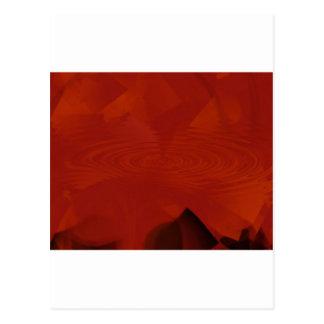 Jagged swirl of orange postcard