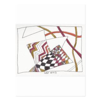 jagged tangle postcard