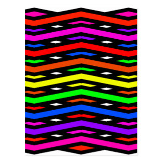 Jagged Waves Abstract Multi Postcard