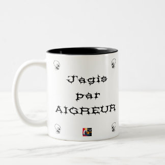I ACTED BY SOURNESS - Word games - François City Two-Tone Coffee Mug