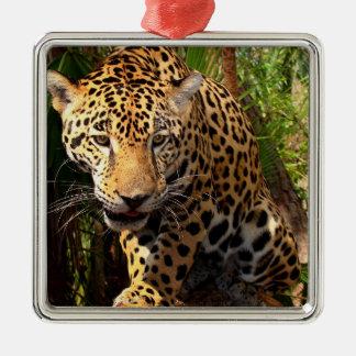 Jaguar Adolescent Metal Ornament