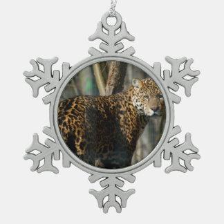 Jaguar Adorno De Peltre En Forma De Copo De Nieve