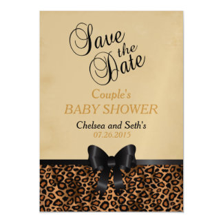 Jaguar Animal Cat Pattern | Baby Shower Magnetic Card