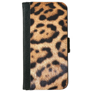 Jaguar Animal Pattern Faux Fur iPhone 6/6s Wallet Case
