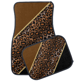 Jaguar Animal Print | Brown | Personalize Car Mat