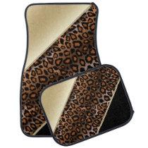 Jaguar Animal Print | Champagne | Personalize Car Floor Mat
