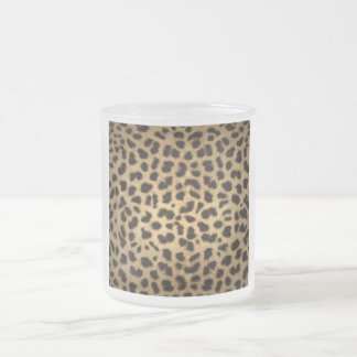 Jaguar Animal Print Frosted Glass Coffee Mug
