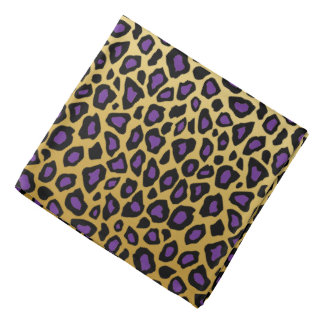 Jaguar Animal Print   Gold Colored Background Bandana