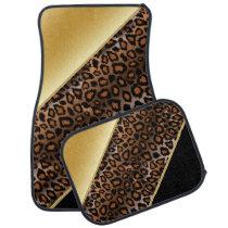 Jaguar Animal Print | Gold | Personalize Car Floor Mat