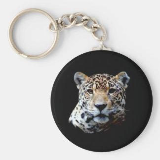 Jaguar Basic Round Button Keychain