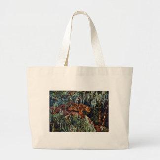 Jaguar Beneath Spanish Moss Large Tote Bag