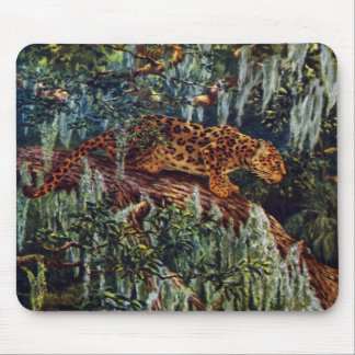 Jaguar Beneath Spanish Moss Mousepad