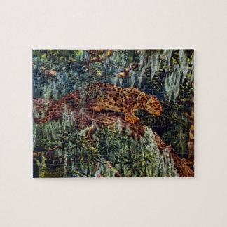 Jaguar Beneath Spanish Moss Puzzles