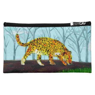 Jaguar Big Cat Art Cosmetic Bag