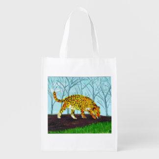 Jaguar Big Cat Art Market Totes