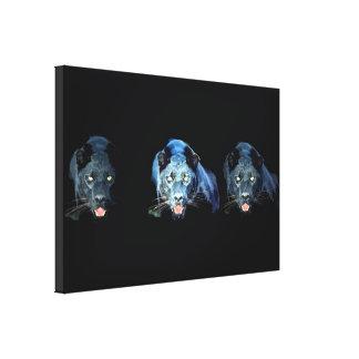 Jaguar - Black Panther Cat Wrapped Canvas Canvas Print