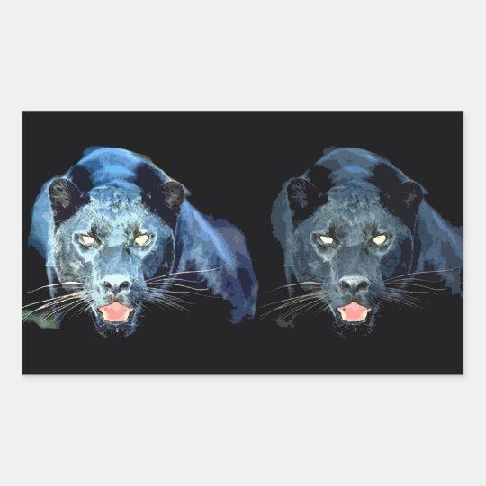 Jaguar - Black Panther Rectangle Stickers