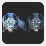 Jaguar - Black Panther Square Stickers