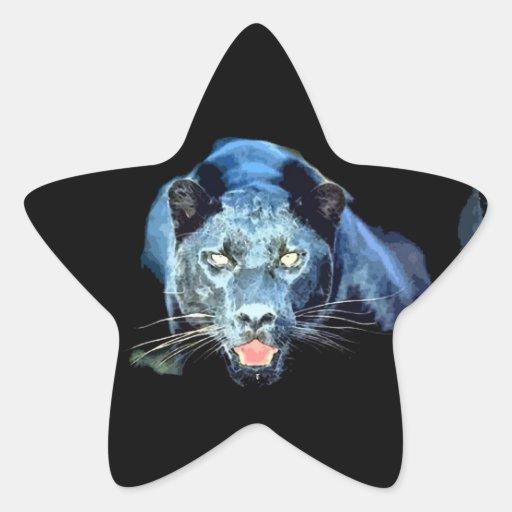 Jaguar - Black Panther Star Stickers