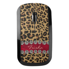 Jaguar Bling Girly Wireless Mouse at Zazzle