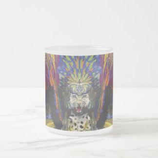 Jaguar Carnaval Dancer 10 Oz Frosted Glass Coffee Mug