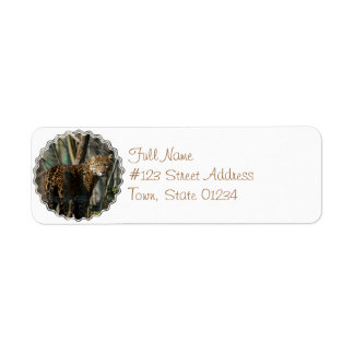Jaguar Cat Return Address Label