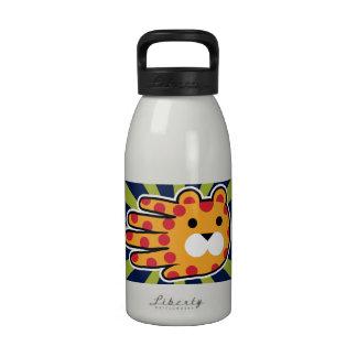 Jaguar Cat with Red Dots Reusable Water Bottles